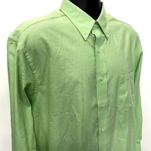 CHAPS Classic Fit Oxford Mens Sz L 16 16.5  32 33
